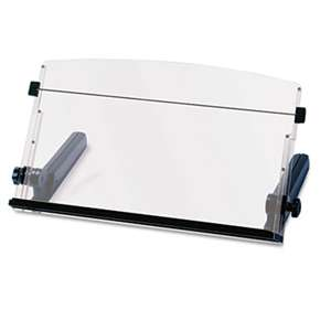 3M/COMMERCIAL TAPE DIV. In-Line Freestanding Copyholder, Plastic, 300 Sheet Capacity, Black/Clear
