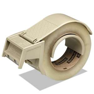 "3M/COMMERCIAL TAPE DIV. Compact and Quick Loading Dispenser for Box Sealing Tape, 3"" Core, Plastic, Gray"