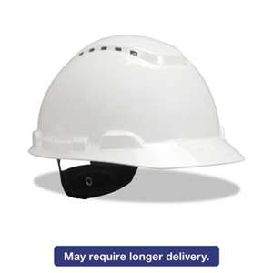 3M/COMMERCIAL TAPE DIV. H-700 Series Hard Hat with 4 Point Ratchet Suspension, Vented, White
