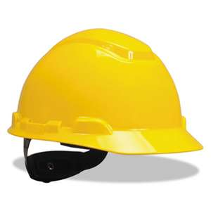 3M H702R H-700 Series Hard Hat with 4 Point Ratchet Suspension, Yellow