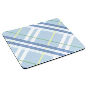 "3M/COMMERCIAL TAPE DIV. Mouse Pad with Precise Mousing Surface, 9"" x 8"" x 1/5"", Plaid Design"