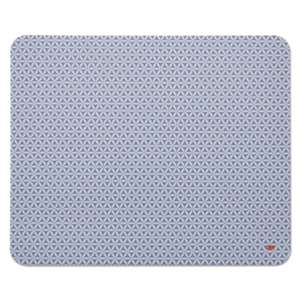 3M MP200PS Precise Mouse Pad, Nonskid Repositionable Adhesive Back, 8 1/2 x 7, Gray/Bitmap