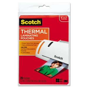 3M/COMMERCIAL TAPE DIV. Photo Size Thermal Laminating Pouches, 5 mil, 7 x 5, 20/Pack
