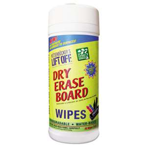 MOTSENBOCKER'S Dry Erase Cleaner Wipes, 7 x 12, 30/Canister