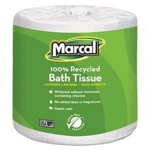 MARCAL MANUFACTURING, LLC Small Steps 100% Recycled 1-Ply Bath Tissue, 1000 Sheets/Roll, 40 Rolls/Carton