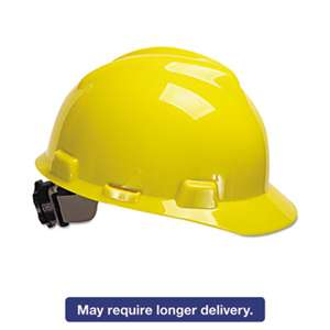 SAFETY WORKS V-Gard Hard Hats, Ratchet Suspension, Size 6 1/2 - 8, Yellow