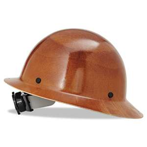 SAFETY WORKS Skullgard Protective Hard Hats, Ratchet Suspension, Size 6 1/2 - 8, Natural Tan