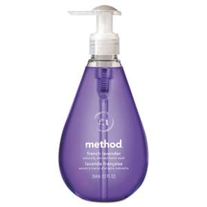 METHOD PRODUCTS INC. Gel Hand Wash, French Lavender, 12 oz Pump Bottle