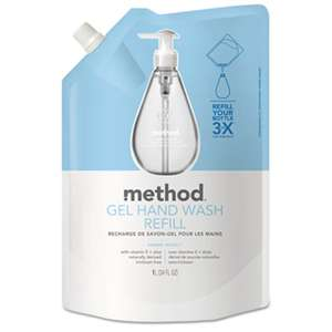 METHOD PRODUCTS INC. Gel Hand Wash Refill, Sweet Water, 34 oz Pouch