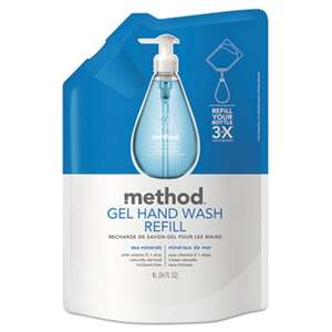 METHOD PRODUCTS INC. Gel Hand Wash Refill, Sea Minerals, 34 oz Pouch