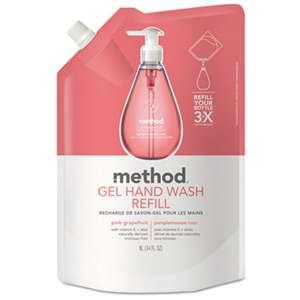 METHOD PRODUCTS INC. Gel Hand Wash Refill, Pink Grapefruit, 34 oz Pouch