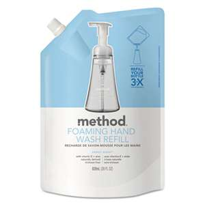 METHOD PRODUCTS INC. Foaming Hand Wash Refill, Sweet Water, 28 oz Pouch