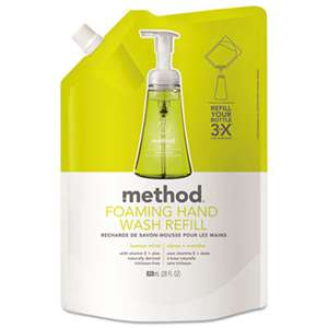 METHOD PRODUCTS INC. Foaming Hand Wash Refill, Lemon Mint, 28 oz Pouch