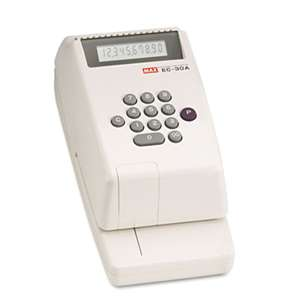 MAX USA CORP. Electronic Checkwriter, 10-Digit, 4-3/8 x 9-1/8 x 3-3/4