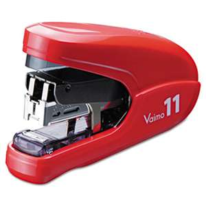 MAX USA CORP. Flat Clinch Light Effort Stapler, 35-Sheet Capacity, Red