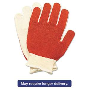 NORTH SAFETY PRODUCTS Smitty Nitrile Palm Coated Gloves, White/Red, Medium, 12 Pairs