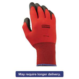 NORTH SAFETY PRODUCTS NorthFlex Red Foamed PVC Gloves, Red/Black, Size 9L, 12 Pairs