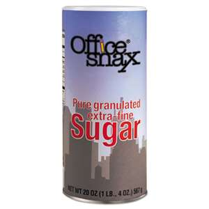 OFFICE SNAX, INC. Reclosable Canister of Sugar, 20 oz
