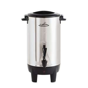 ORIGINAL GOURMET FOOD COMPANY 30-Cup Percolating Urn, Stainless Steel