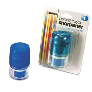 OFFICEMATE INTERNATIONAL CORP. Twin Pencil/Crayon Sharpener with Cap, Blue