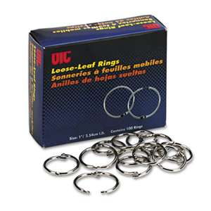"OFFICEMATE INTERNATIONAL CORP. Officemate Book Rings, 1"", 100/Box"