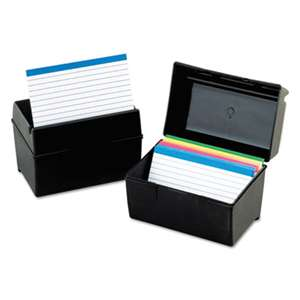 ESSELTE PENDAFLEX CORP. Plastic Index Card File, 400 Capacity, 6 1/2w x 4 7/8d, Black