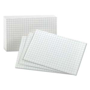 ESSELTE PENDAFLEX CORP. Grid Index Cards, 3 x 5, White, 100/Pack