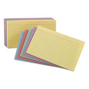 ESSELTE PENDAFLEX CORP. Ruled Index Cards, 4 x 6, Blue/Violet/Canary/Green/Cherry, 100/Pack
