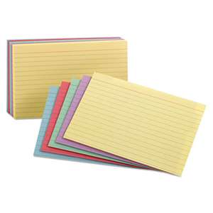 ESSELTE PENDAFLEX CORP. Ruled Index Cards, 3 x 5, Blue/Violet/Canary/Green/Cherry, 100/Pack