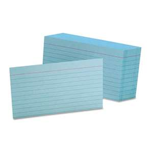 ESSELTE PENDAFLEX CORP. Ruled Index Cards, 3 x 5, Blue, 100/Pack