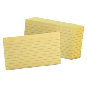 ESSELTE PENDAFLEX CORP. Ruled Index Cards, 3 x 5, Canary, 100/Pack