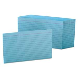 ESSELTE PENDAFLEX CORP. Ruled Index Cards, 4 x 6, Blue, 100/Pack