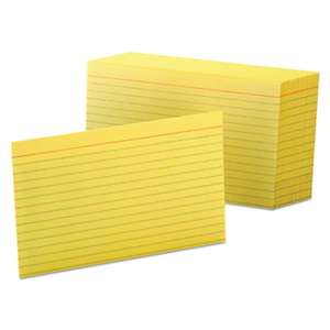 ESSELTE PENDAFLEX CORP. Ruled Index Cards, 4 x 6, Canary, 100/Pack