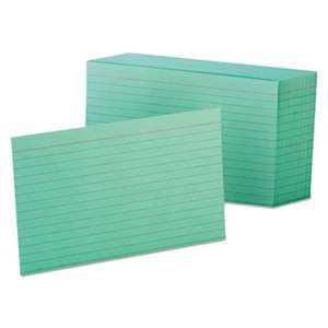 ESSELTE PENDAFLEX CORP. Ruled Index Cards, 4 x 6, Green, 100/Pack