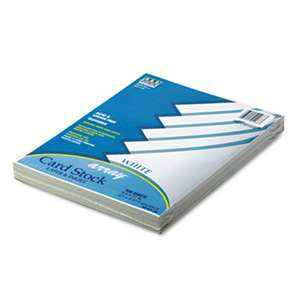 PACON CORPORATION Array Card Stock, 65 lb., Letter, White, 100 Sheets/Pack