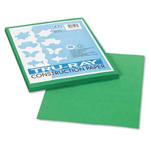 PACON CORPORATION Tru-Ray Construction Paper, 76 lbs., 9 x 12, Holiday Green, 50 Sheets/Pack