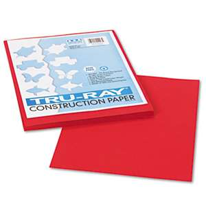 PACON CORPORATION Tru-Ray Construction Paper, 76 lbs., 9 x 12, Holiday Red, 50 Sheets/Pack