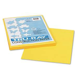 PACON CORPORATION Tru-Ray Construction Paper, 76 lbs., 9 x 12, Yellow, 50 Sheets/Pack