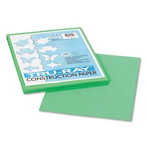PACON CORPORATION Tru-Ray Construction Paper, 76 lbs., 9 x 12, Festive Green, 50 Sheets/Pack