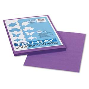 PACON CORPORATION Tru-Ray Construction Paper, 76 lbs., 9 x 12, Violet, 50 Sheets/Pack