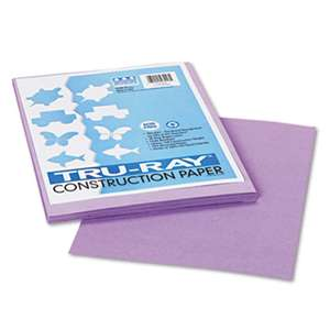 PACON CORPORATION Tru-Ray Construction Paper, 76 lbs., 9 x 12, Lilac, 50 Sheets/Pack