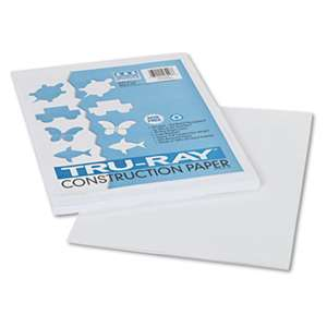 PACON CORPORATION Tru-Ray Construction Paper, 76 lbs., 9 x 12, White, 50 Sheets/Pack