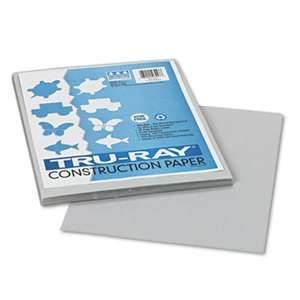 PACON CORPORATION Tru-Ray Construction Paper, 76 lbs., 9 x 12, Gray, 50 Sheets/Pack