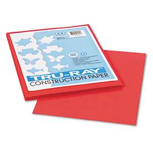 PACON CORPORATION Tru-Ray Construction Paper, 76 lbs., 9 x 12, Red, 50 Sheets/Pack