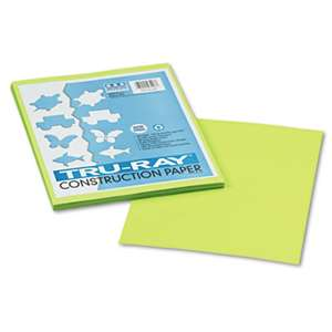 PACON CORPORATION Tru-Ray Construction Paper, 76 lbs., 9 x 12, Brilliant Lime, 50 Sheets/Pack
