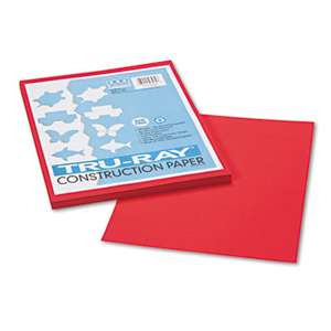 PACON CORPORATION Tru-Ray Construction Paper, 76 lbs., 9 x 12, Festive Red, 50 Sheets/Pack