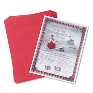PACON CORPORATION Riverside Construction Paper, 76 lbs., 9 x 12, Holiday Red, 50 Sheets/Pack