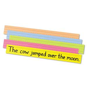 PACON CORPORATION Sentence Strips, 24 x 3, Assorted Bright Colors, 100/Pack
