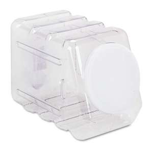 PACON CORPORATION Interlocking Storage Container with Lid, Clear Plastic