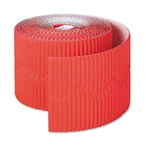 "PACON CORPORATION Bordette Decorative Border, 2 1/4"" x 50' Roll, Flame Red"